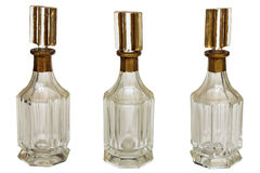 Vintage art deco bottles isolated on white Stock Image