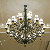 Vintage art deco ceiling lamp Royalty Free Stock Photos