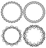 Vintage art deco circle frames in white and black Royalty Free Stock Photography