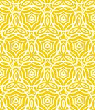 Vintage art deco pattern with curved lines. Forms and shapes that creates a crochet look on yellow. Texture for print, wallpaper; wedding invitation background Stock Photo