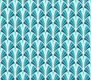 Vintage Art Deco Seamless Pattern del vector Textura ondulada con los círculos Fondo elegante retro Imagen de archivo libre de regalías