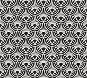 Vintage Art Deco Seamless Pattern floral Textura decorativa geométrica ilustração stock