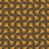 Vintage Art Deco Seamless Pattern floral Texture décorative géométrique Photos libres de droits