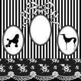 Vintage Art Nouveau Frame stock photos