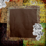 Vintage Art Paper Background. A multi-layered, rich textured background Stock Photos