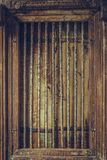 Vintage Art Wooden Cage décoratif photographie stock
