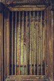 Vintage Art Wooden Cage decorativo fotografía de archivo