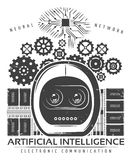Vintage Artificial Intelligence Label Template Stock Image