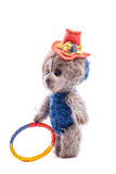 Vintage artistic Teddy Bear toy Stock Images