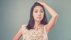 Vintage Asian woman. Stock Photo