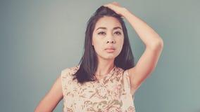 Vintage Asian woman. Stock Photo