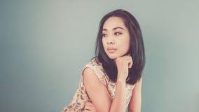 Vintage Asian woman. Royalty Free Stock Photos