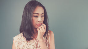 Vintage Asian woman. Royalty Free Stock Photography