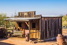 Vintage Assay Office in Arizona Desert. Historic Wood Building Used For Assay Office In Arizona Desert stock photography