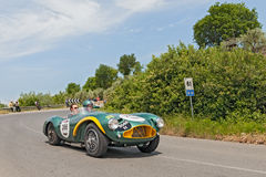 Vintage Aston Martin DB 3 S (1953) in Mille Miglia 2014 Royalty Free Stock Photo