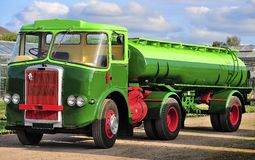 Vintage Atkinson, 1960,s truck. A vintage, Atkinson articulated tanker truck, from the 1960,s. Renovated, and fully roadworthy, 50 years later royalty free stock photography