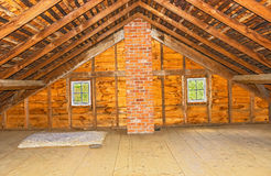 Vintage attic in old farm house Stock Image