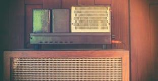 Vintage Audio Amplifier Speaker Royalty Free Stock Photography