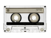 Vintage audio cassette. Isolated on white Royalty Free Stock Photography