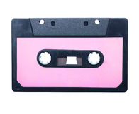 Vintage audio cassette isolated. Royalty Free Stock Photography