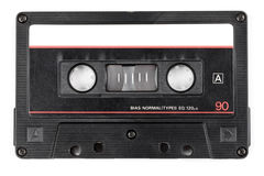 Vintage audio cassette isolated Stock Images