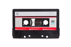 Vintage audio cassette. Isolated on white background Stock Photos