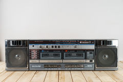 Vintage audio cassette tape deck ghettoblaster Stock Photos