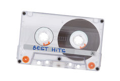 Vintage audio cassette tape, isolated on white background Royalty Free Stock Photography