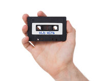 Vintage audio cassette tape, isolated on white background Stock Photo
