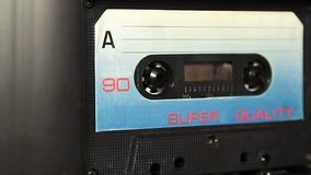 Vintage audio cassette tape stock video