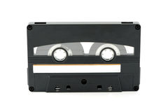 Vintage audio cassette on white isolated background Royalty Free Stock Images