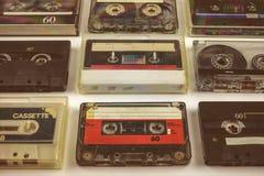 Vintage audio compact cassettes Stock Images