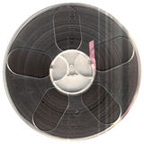 Vintage audio tape stock photography
