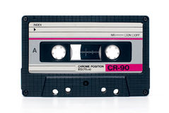 Vintage audio tape cassete. Close up of vintage audio tape cassete isolated Stock Images