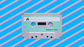 Vintage audio tape cassette. retro background royalty free stock images