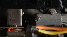 Vintage audio tape deck head mechanism