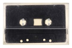 Vintage audio tape isolated on white Royalty Free Stock Images