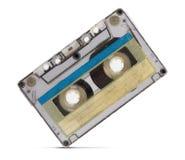 Vintage audio tape on white background royalty free stock photo