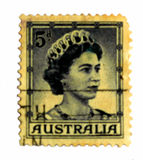 Vintage Australia Stamp Stock Images