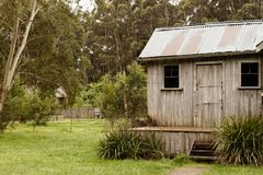 Vintage Australian cabin Stock Photography