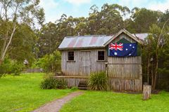Vintage Australian cabin Stock Photo