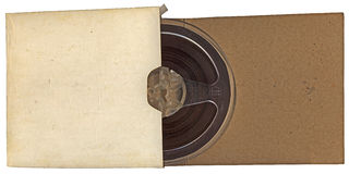 Vintage autio type roll in paper isolated, Royalty Free Stock Photos