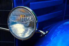 Vintage Auto Headlight Royalty Free Stock Photos