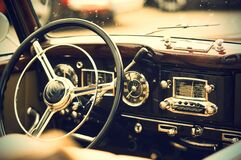 Vintage auto interior Stock Photos