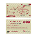 Vintage Auto repair business card template. Create your own business cards. Stock Image