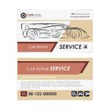 Vintage Auto repair business card template. Create your own business cards. Royalty Free Stock Image