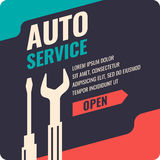 Vintage Auto service poster. Stock Photography