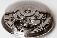 Vintage automatic watch macro Royalty Free Stock Images