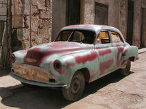 Vintage automobile. In Havana.  Cuba Stock Photography