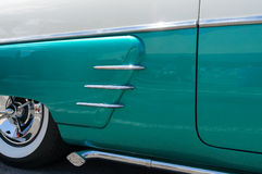 Vintage automobile details. Details of a pristine classic automobile Royalty Free Stock Photos